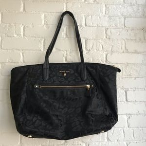 Michael Kors Kelsey black animal print tote bag